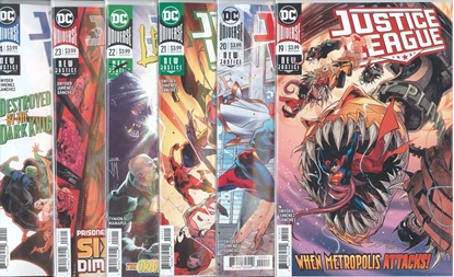 Picture of JUSTICE LEAGUE #19-24 1ST PRINT SET NM