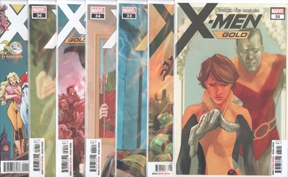 Picture of X-MEN GOLD #31-36 + ANNUAL #1 1ST PRINT SET NM
