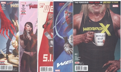 Picture of WEAPON X #17-21 1ST PRINT SET NM