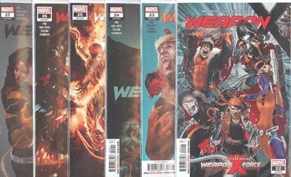 Picture of WEAPON X #22-27 1ST PRINT SET NM
