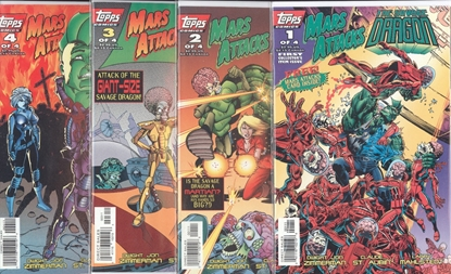 Picture of MARS ATTACKS THE SAVAGE DRAGON (1994) #1-4 SET VF/NM