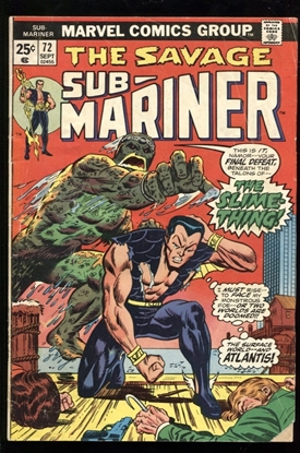 Picture of SUB-MARINER (1968) #72 3.0 GD/VG