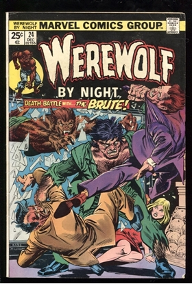Picture of WEREWOLF BY NIGHT (1972) #24 5.0 VG/FN