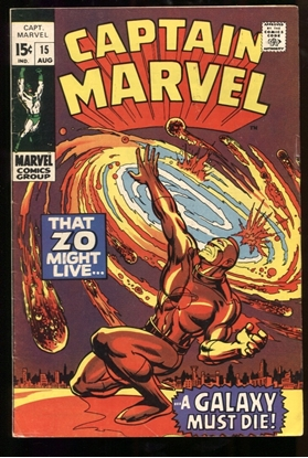 Picture of CAPTAIN MARVEL (1968) #15 6.0 FN