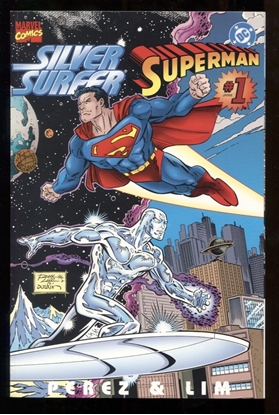 Picture of SILVER SURFER SUPERMAN (1996) #1 ONE-SHOT 9.4 NM