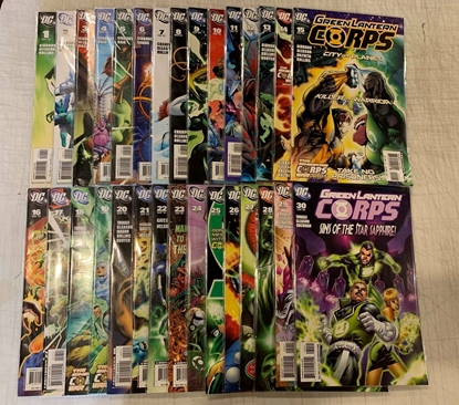 Picture of GREEN LANTERN CORPS (2006) #1-63 + SINESTRO CORPS & SECRET FILES ORIGIN SET NM-