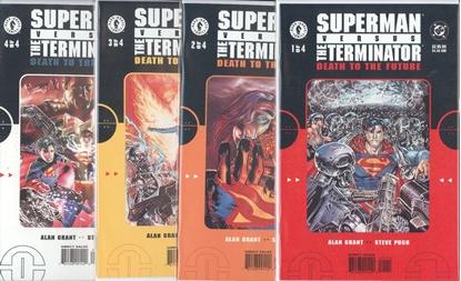 Picture of SUPERMAN VERSUS THE TERMINATOR (1999) #1-4 SET VF/NM