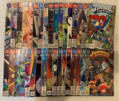 Picture of SUPERMAN ADVENTURES (1996) #1-66 + ANNUAL #1 SET  MISSING #5 & 21