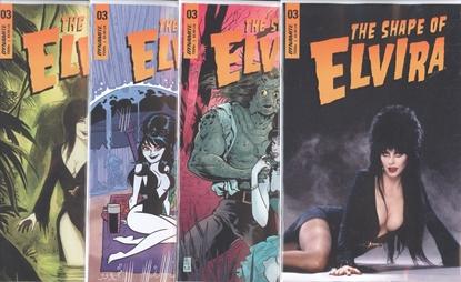 Picture of ELVIRA SHAPE OF ELVIRA (2019) #3 CVR A B C D 4 COVER SET NM