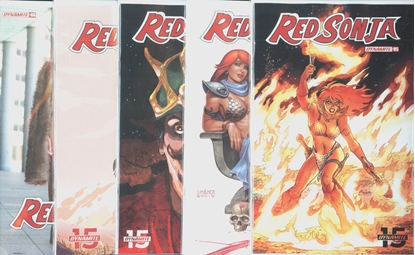 Picture of RED SONJA #5 CVR A B C D E 5 COVER SET NM