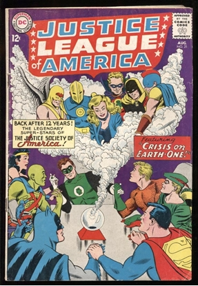 Picture of JUSTICE LEAGUE OF AMERICA (1960) #21 4.0 VG