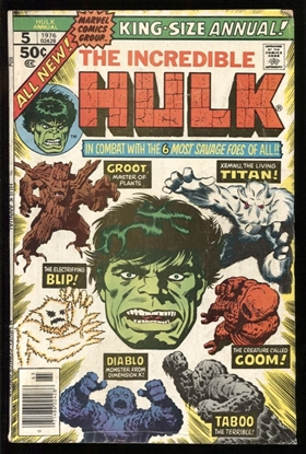 Picture of INCREDIBLE HULK (1962) ANNUAL #5 6.0 FN