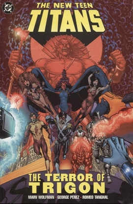 Picture of NEW TEEN TITANS THE TERROR OF TRIGON 1ST PRINT TPB