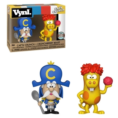 Picture of FUNKO VYNL. CAP'N CRUNCH + CRUNCHBERRY BEAST SPECIALTY SERIES 2PK NEW FIGURES
