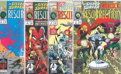 Picture of SILVER SURFER WARLOCK RESURRECTION #1-4 SET VF/NM
