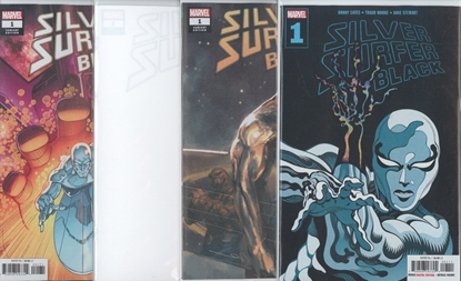Picture of SILVER SURFER BLACK #1 1ST PRINT LIM BLANK & 1:25 COVER SET