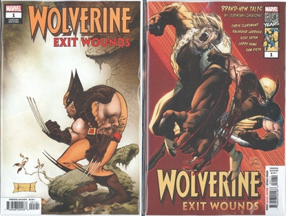 Picture of WOLVERINE EXIT WOUNDS #1 STEGMAN & SAM KIETH VAR CVR SET NM