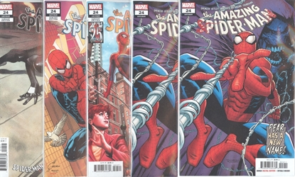 Picture of AMAZING SPIDER-MAN #24 1ST PRINT BLOOD TRIBUTE QUESADA SYMBIOTE CVR SET
