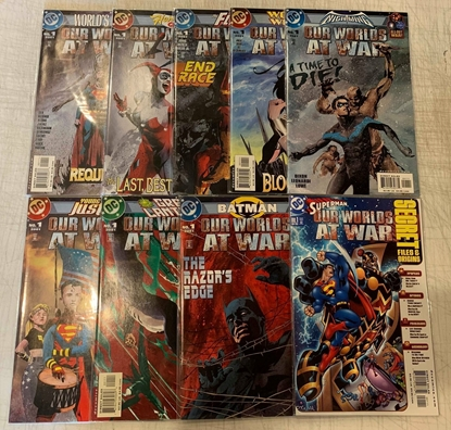Picture of OUR WORLDS AT WAR (2001) #1 SET 9 BOOKS VF/NM