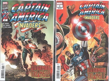 Picture of CAPTAIN AMERICA INVADERS BAHAMAS TRIANGLE #1 1ST PRINT & LIM VAR SET NM