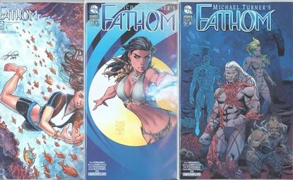 Picture of FATHOM VOL 8 #3 CVR A B C 3 COVER SET NM