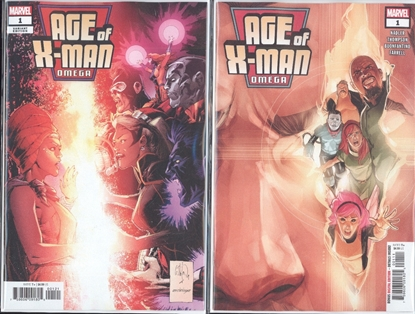 Picture of AGE OF X-MAN OMEGA #1 1ST PRINT & VARIANT COVER SET NM