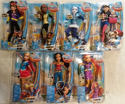 "Picture of DC MATTEL SUPER HERO GIRLS SET OF 7 12"" FIGURES NEW IN BOX"