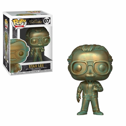 Picture of FUNKO POP ICONS MARVEL STAN LEE (PATINA) #07 NEW VINYL FIGURE