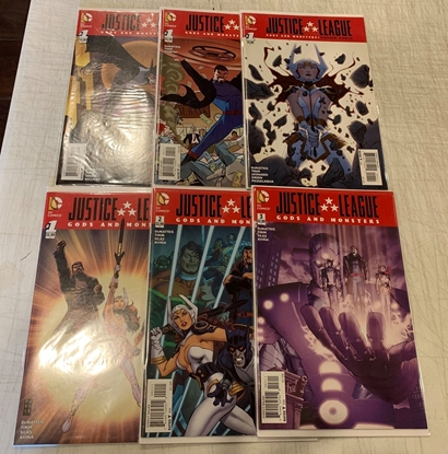 Picture of JUSTICE LEAGUE GODS AND MONSTERS (2015) #1-3 + ONE-SHOTS SET VF/NM