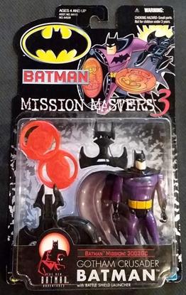 Picture of HASBRO BATMAN MISSION MASTERS 3 GOTHAM CRUSADER BATMAN W/BATTLE SHIELD LAUNCHER ACTION FIGURE