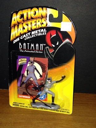 Picture of KENNER ACTION MASTERS DIE CAST METAL COLLECTIBLES B.T.A.S. BATMAN & CATWOMAN FIGURE PRE-OWNED