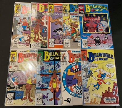 Picture of BULLWINKLE AND ROCKY (1987) #1-9 SET VF/NM