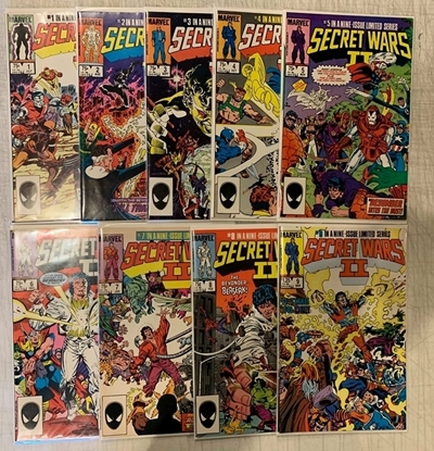 Picture of SECRET WARS II (1985) #1-9 SET VF/NM