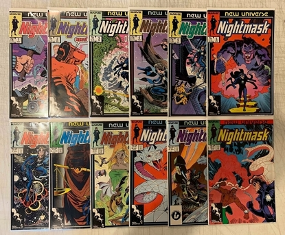 Picture of NIGHTMASK (1986) #1-12 NEW UNIVERSE'S SANDMAN DREAMY SET VF+
