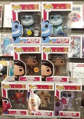 Picture of FUNKO POP DISNEY ALADDIN WAVE 2 SET OF 7 JASMINE CHASE GENIE SPECIALTY SERIES INCLUDED NEW