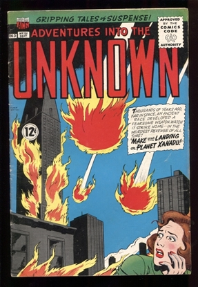 Picture of ADVENTURES  INTO THE UNKNOWN (1948) #151 4.0 VG