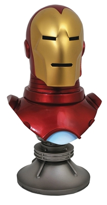 Picture of LEGENDS IN 3D MARVEL COMIC IRON MAN 1/2 SCALE BUST