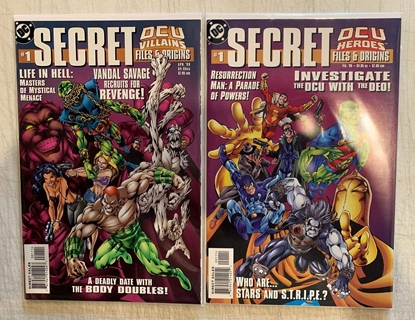 Picture of SECRET DCU VILLAINS & HEROES FILES & ORIGINS  (1999) #1 SET VF/NM
