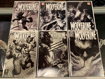 Picture of WOLVERINE (2003) #50-55 B&W VARIANT COVER SET VF/NM