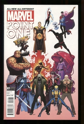 Picture of ALL NEW ALL DIFFERENT POINT ONE (2015) #1 NM MARQUEZ A VAR