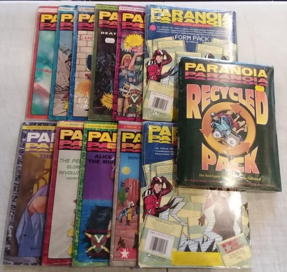 Picture of WEST END GAMES PARANOIA ROLE PLAYING GAME SET OF 12 NEW SEALED