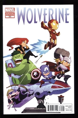 Picture of WOLVERINE (2010) #304 1:25 GURIHIRU VARIANT 9.2 NM-
