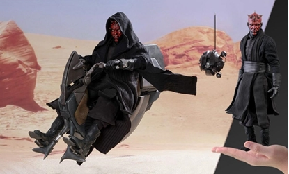 Picture of HOT TOYS DARTH MAUL WITH SIN SPEEDER EP.1  1/6 SCALE FIGURE