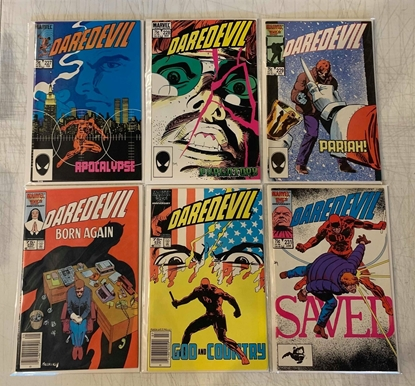 Picture of DAREDEVIL #227-232 BORN AGAIN SET NM