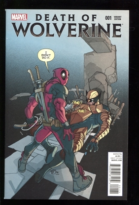 Picture of DEATH OF WOLVERINE (2014) #1 (OF 4) FERRY DEADPOOL PARTY  VARIANT 9.0 VF/NM