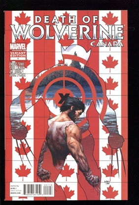 Picture of DEATH OF WOLVERINE #1 (OF 4) CANADA VARIANT 9.2 NM-