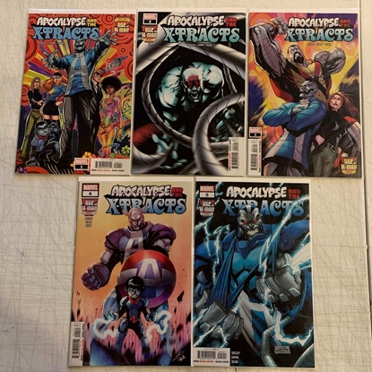 Picture of AGE OF X-MAN APOCALYPSE AND X-TRACTS #1-5 1ST PRINT SET NM
