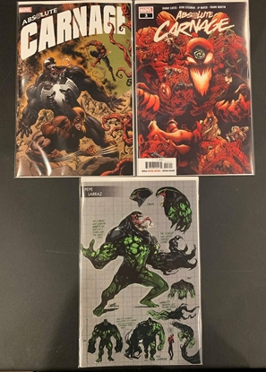 Picture of ABSOLUTE CARNAGE #3 1ST PRINT CONNECTING & YOUNG GUNS 3 CVR SET NM