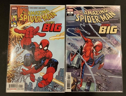 Picture of AMAZING SPIDER-MAN GOING BIG #1 1ST PRINT & RAMOS VARIANT COVER SET NM