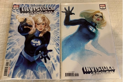 Picture of INVISIBLE WOMAN #1 1ST PRINT & HANS VARIANT COVER NM